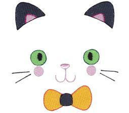 Boy Cat Halloween Face