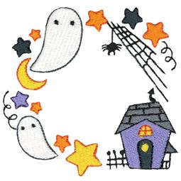 Haunted House Monogram Frame