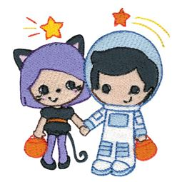 Astronaut and Cat Costumes