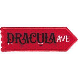 Dracula Avenue ITH Halloween Sign