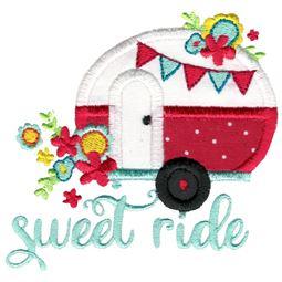 Sweet Ride Camper Applique