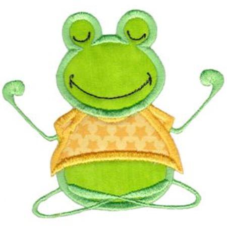 Meditation Frog Applique