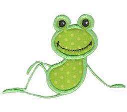 Sitting Frog Applique