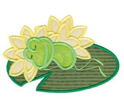 Napping Frog Applique