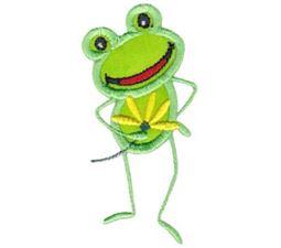 Flower For You Frog Applique