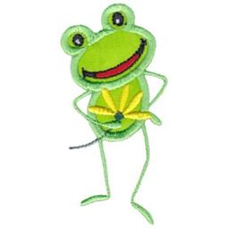 Flower For You Frog Applique