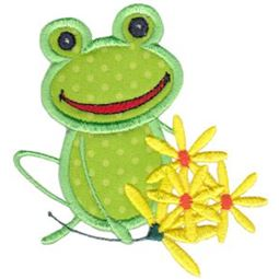 Bunch of Daisies Frog Applique
