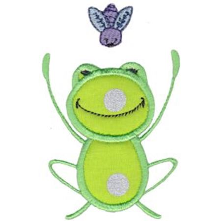 Fly and Frog Applique