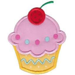 Hello Cupcake Applique 1