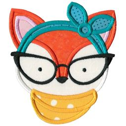 Hipster Fox Face Applique