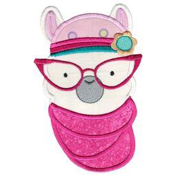 Hipster Llama Face Applique