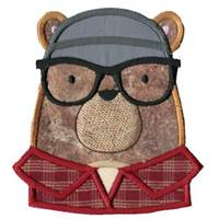 Hipster Animal Faces Applique