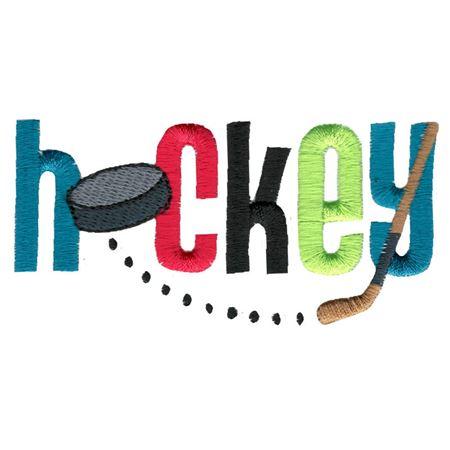 Hockey Word Art