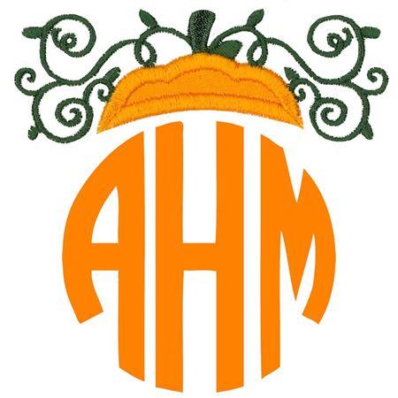 Pumpkin Monogram Topper