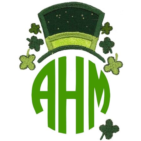 Saint Patrick's Day Monogram Topper
