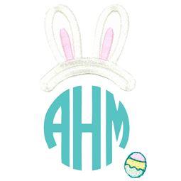 Easter Bunny Ears Boy Monogram Topper