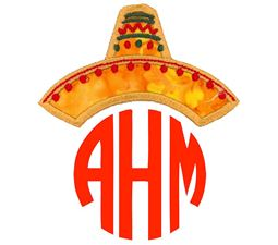 Cinco De Mayo Sombrero Monogram Topper