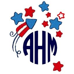Fourth Of July Monogram Topper