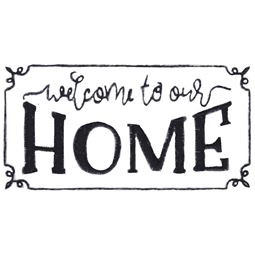 Welcome to Our Home In Frame