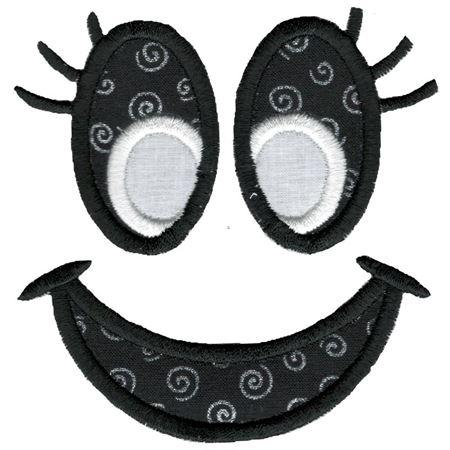Jack-O-Lantern Faces Applique 1
