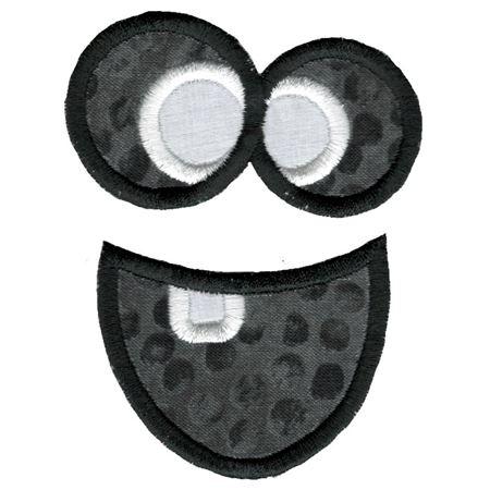 Jack-O-Lantern Faces Applique 4