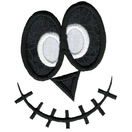 Jack-O-Lantern Faces Applique 8