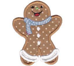 Jolly Gingerbreads Applique 10
