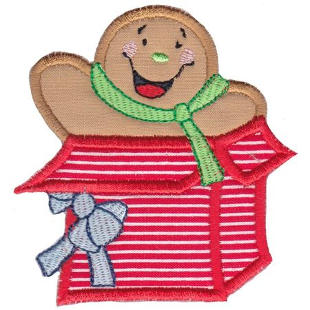 Jolly Gingerbreads Applique 14