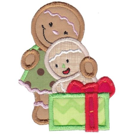 Jolly Gingerbreads Applique 3
