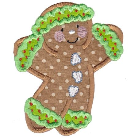 Jolly Gingerbreads Applique 5