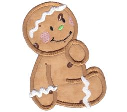Jolly Gingerbreads Applique 6