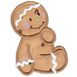 Jolly Gingerbreads Applique 6