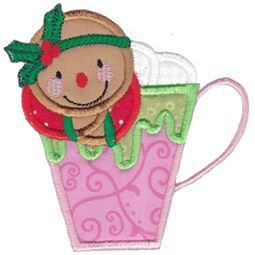 Jolly Gingerbreads Applique 7