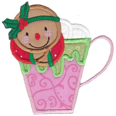 Jolly Gingerbreads Applique 7