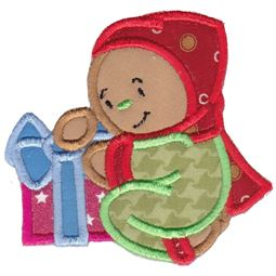 Jolly Gingerbreads Applique 9