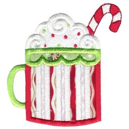 Christmas Hot Chocolate Applique