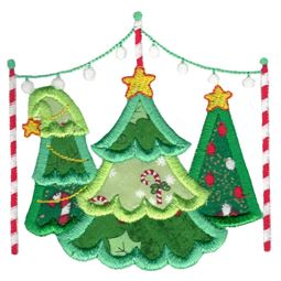 Christmas Trees Applique