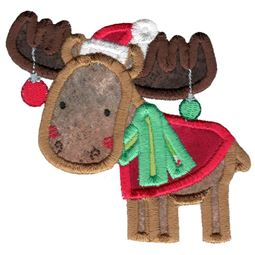 Christmas Moose Applique