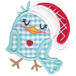 Bird Wearing Santa