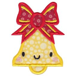 Kawaii Christmas Bell Applique