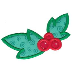 Kawaii Mistletoe Applique