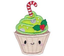 Christmas Cupcake Applique