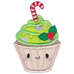 Christmas Cupcake Applique