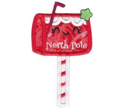 North Pole Letterbox Applique