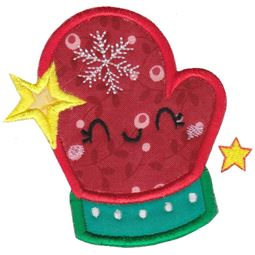 Kawaii Mitten Applique