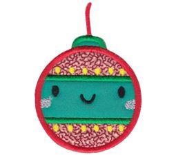 Kawaii Christmas Ornament Applique