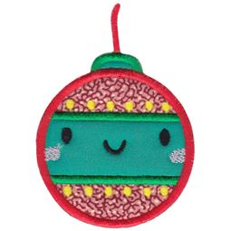 Kawaii Christmas Ornament Applique