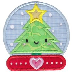 Kawaii Snow Globe Applique