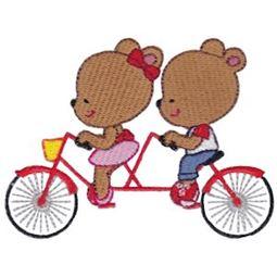 Tandem Bike Bears