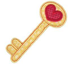 Heart Key Applique